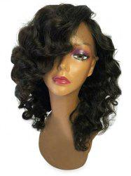 Medium Side Bang Body Wave Lace Front Synthetic Wig -