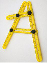 ABS Multifunction Foldable Plastic Teaching Ruler -