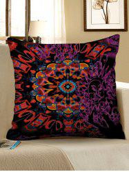 Abstract Mandala Print Decorative Linen Sofa Pillowcase -