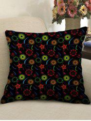 Flowers Printed Linen Sofa Pillowcase -