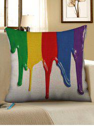Colorful Paint Print Decorative Linen Sofa Pillowcase -