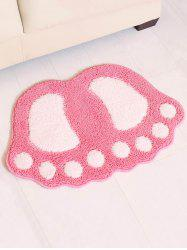 Footprint Shape Doormat Floor Mat -