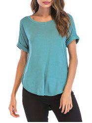 Cuffed Sleeve Basic Tee -