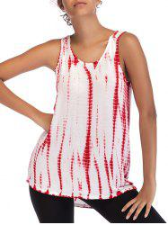 Ombre Print Casual Sleeveless Top -