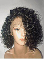 Medium Inclined Bang Curly Synthetic Lace Front Wig -