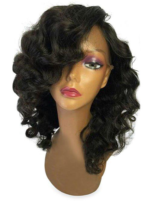 Hot Medium Side Bang Body Wave Lace Front Synthetic Wig