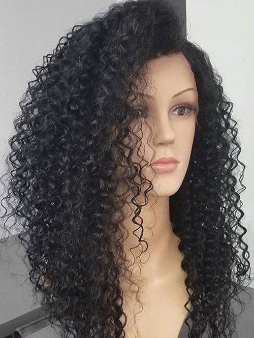 Discount Long Inclined Bang Fluffy Deep Wave Synthetic Lace Front Wig