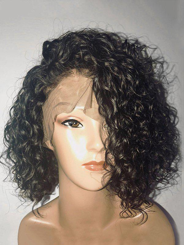 Outfits Medium Inclined Bang Curly Synthetic Lace Front Wig