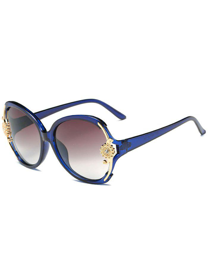 Outfits Anti Fatigue Carving Floral Oversized Sunglasses