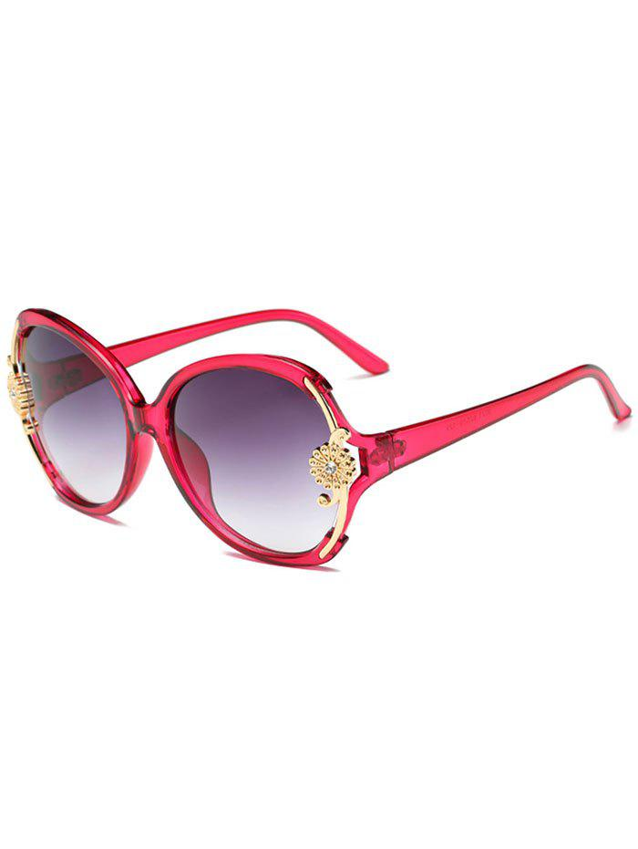 Store Anti Fatigue Carving Floral Oversized Sunglasses