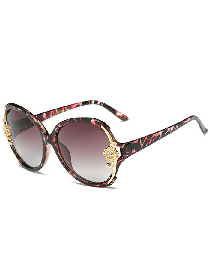 Latest Anti Fatigue Carving Floral Oversized Sunglasses
