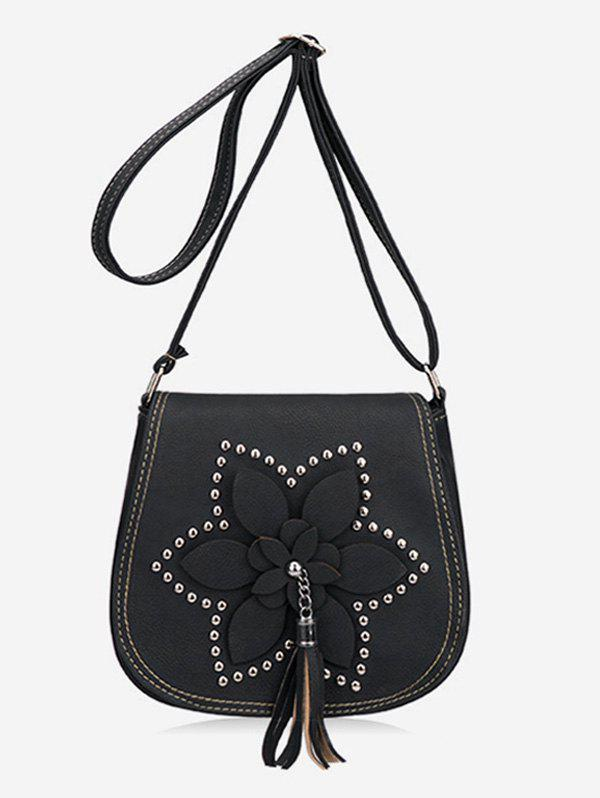 Fancy Flap Flower Tassel Chic Studs Crossbody Bag