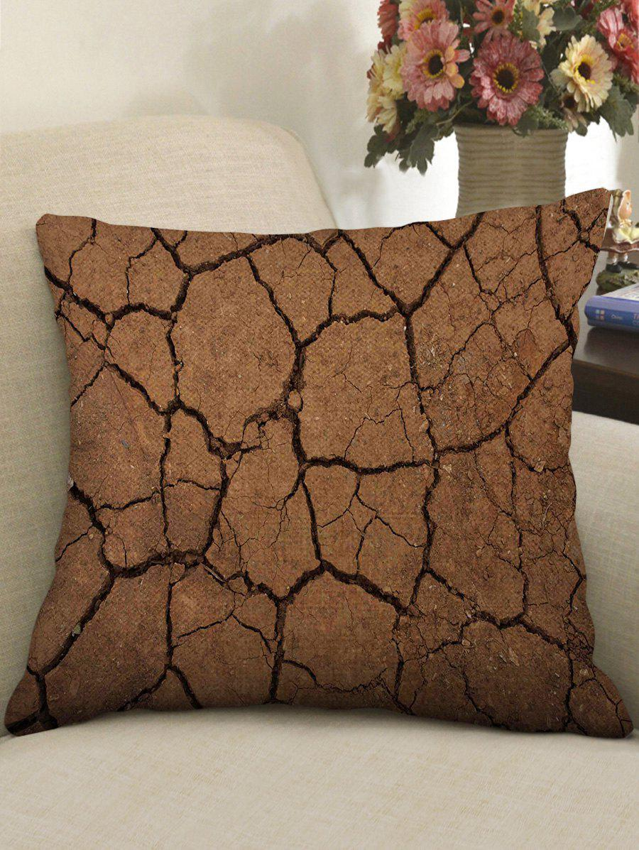 Hot Cracked Ground Print Decorative Linen Sofa Pillowcase