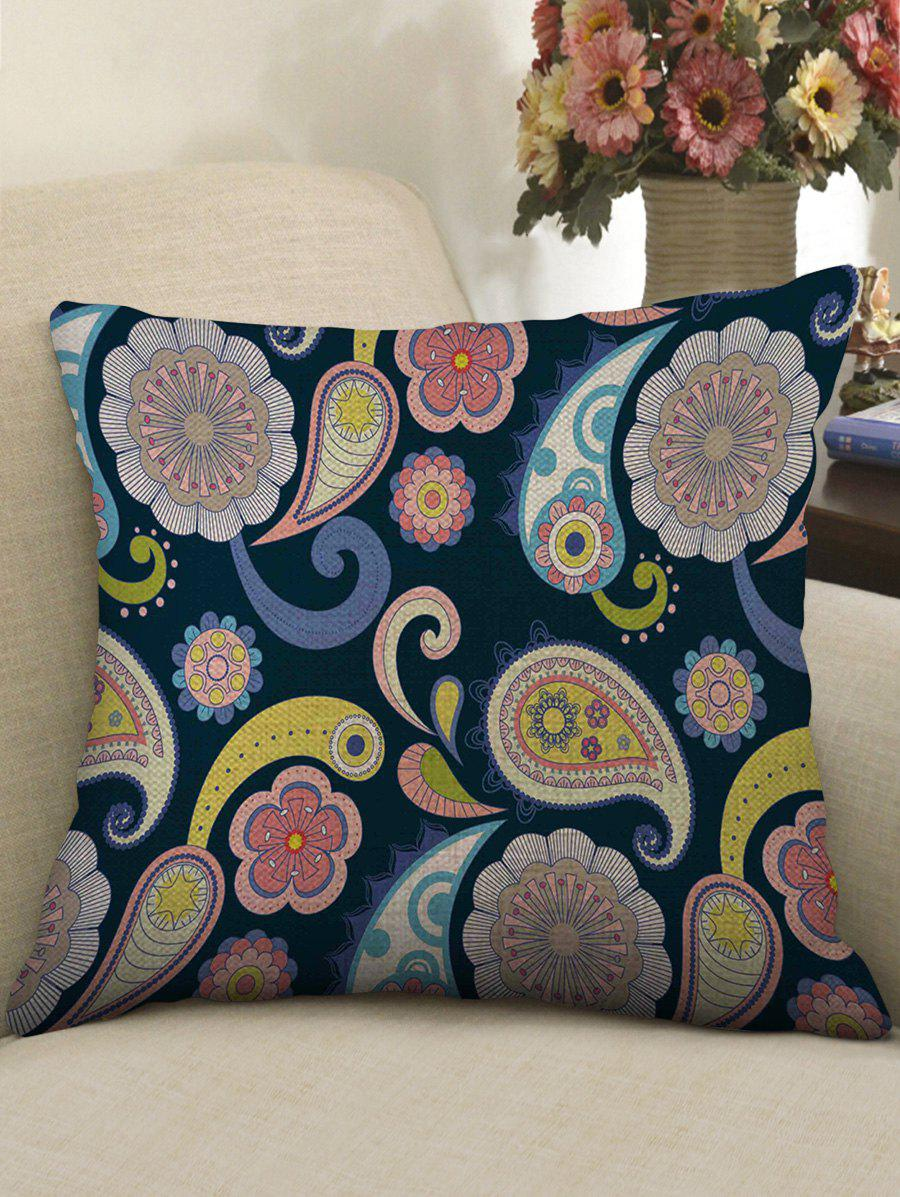 Best Paisley Print Decorative Linen Sofa Pillowcase