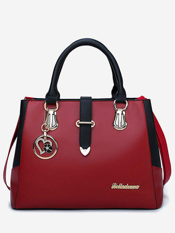 Sale Heart Pendant Metallic Causal Handbag