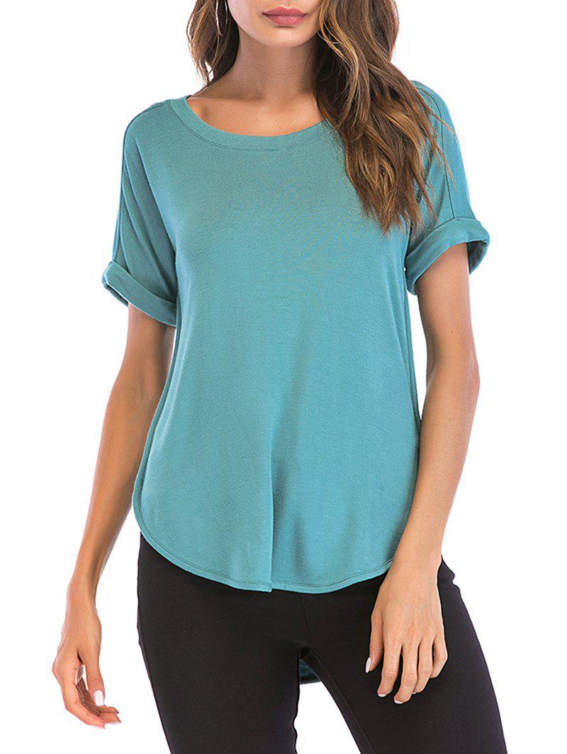 Shop Cuffed Sleeve Basic Tee