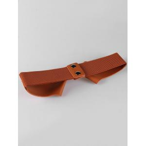 Bowknot Faux Leather Elastic Wide Waist Belt -