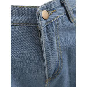 Distressed Zipper Fly Shorts -