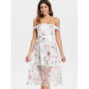 Floral Off The Shoulder une robe de ligne -
