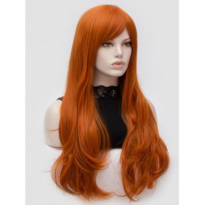 Long Oblique Bang Slightly Curly Party Synthetic Wig -