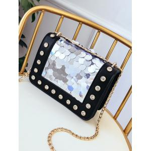 Dazzling Paillettes Crystals Chain Sling Bag -