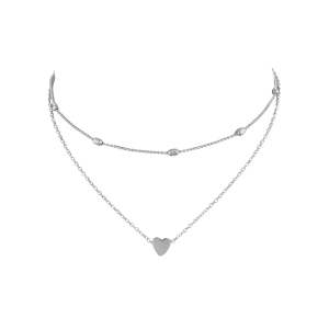 Heart Shape Design Layered Necklace -
