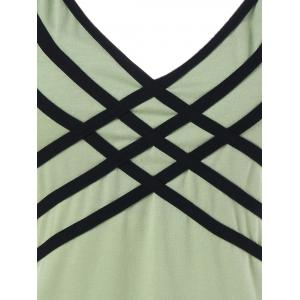 Strappy V Neck Tank Top -