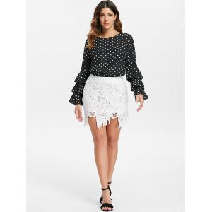 Bell Sleeve Dotted Blouse -