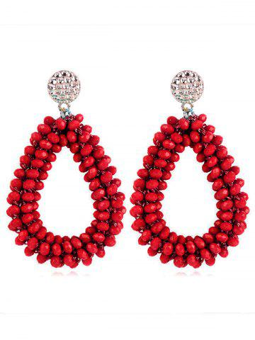 Discount Water Drop Design Beads Decoration Rhinestone Earrings