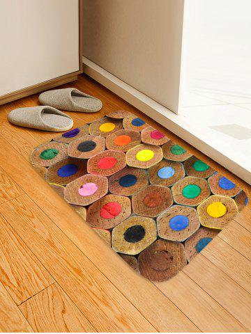 Latest Colorful Pencil Lead Printed Skidproof Floor Mat