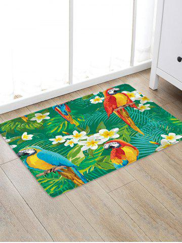 Outfit Uhommi Parrots Flowers Rainforest Plants Printed Antiskid Floor Mat