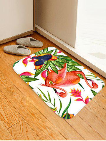 Cheap Uhommi Flamingos Birds Flower Plants Printed Area Mat