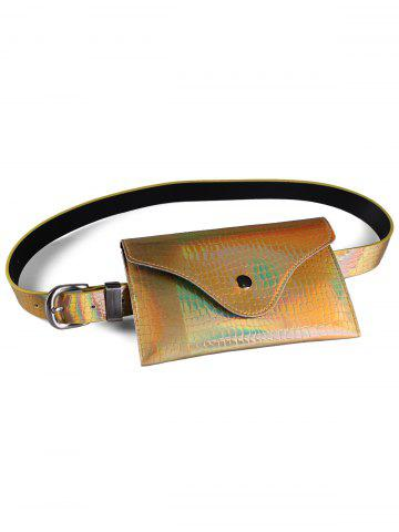 Outfits Fanny Pack Decorative Glossy Belt Bag
