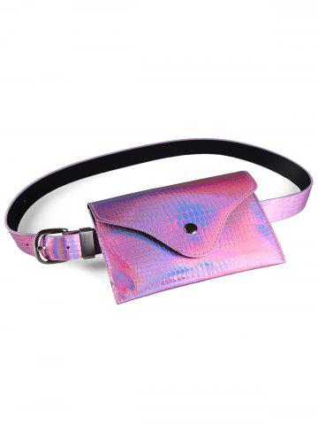 Unique Fanny Pack Decorative Glossy Belt Bag