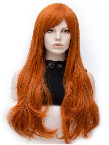 Store Long Oblique Bang Slightly Curly Party Synthetic Wig