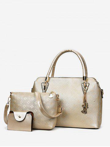 Loisirs Shopping Embossing 3 pièces Sac fourre-tout