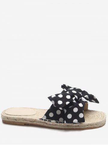 Discount Vintage Polka Dot Bowknot Decorated Leisure Beach Slides
