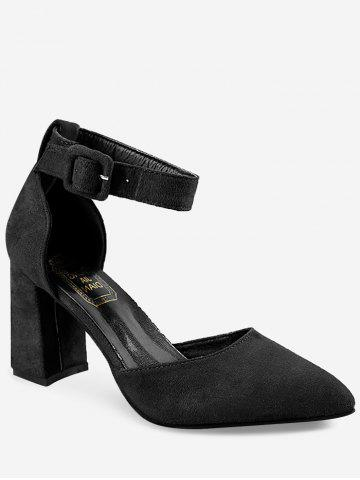 New Chic Two Piece Chunky Heel Pointed Toe Pumps
