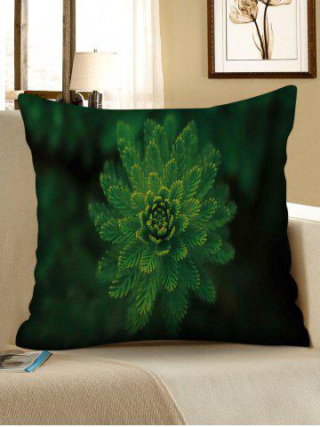 Outfits Leaves Print Decorative Linen Sofa Pillowcase