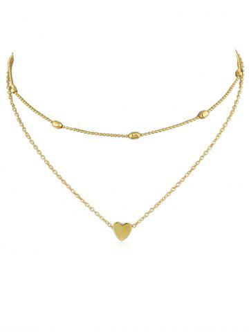 New Heart Shape Design Layered Necklace