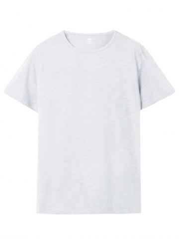 Buy Short Sleeve Solid Color Casual T-shirt