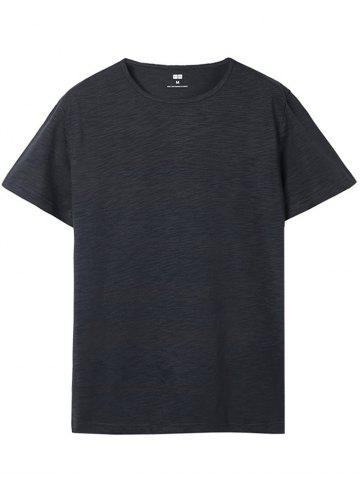 Shop Short Sleeve Solid Color Casual T-shirt