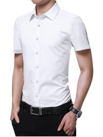 Latest Button Up Solid Color Slim Fit Shirt