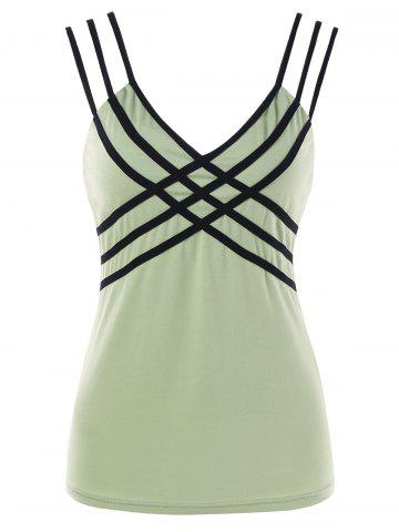 Sale Strappy V Neck Tank Top