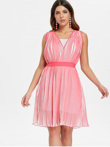 Chiffon Pleated Dress with Spaghetti Strap Dress