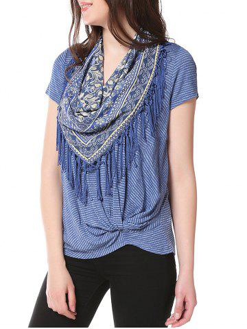 Knotted on Hemline Tee with Matching Scarf
