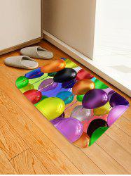 Colorful Balloons Printed Skidproof Floor Mat -