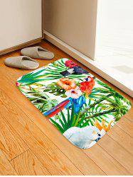 Uhommi Parrot Rainforest Plants Printed Skidproof Floor Mat -