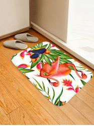 Uhommi Flamingos Birds Flower Plants Printed Area Mat -