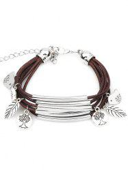 Cute Birds Plant Decorative Multilayer Bracelet -